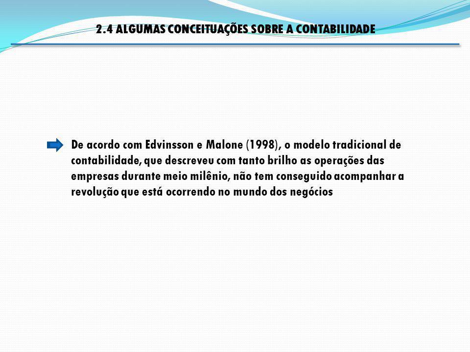 2.4 ALGUMAS CONCEITUAÇÕES SOBRE A CONTABILIDADE