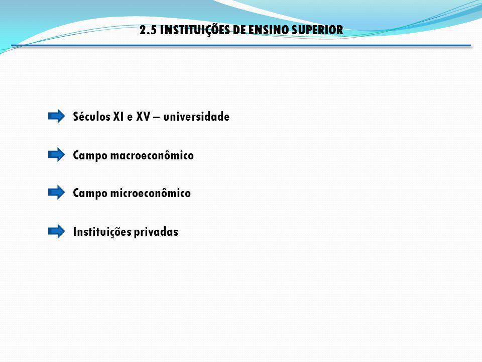 2.5 INSTITUIÇÕES DE ENSINO SUPERIOR