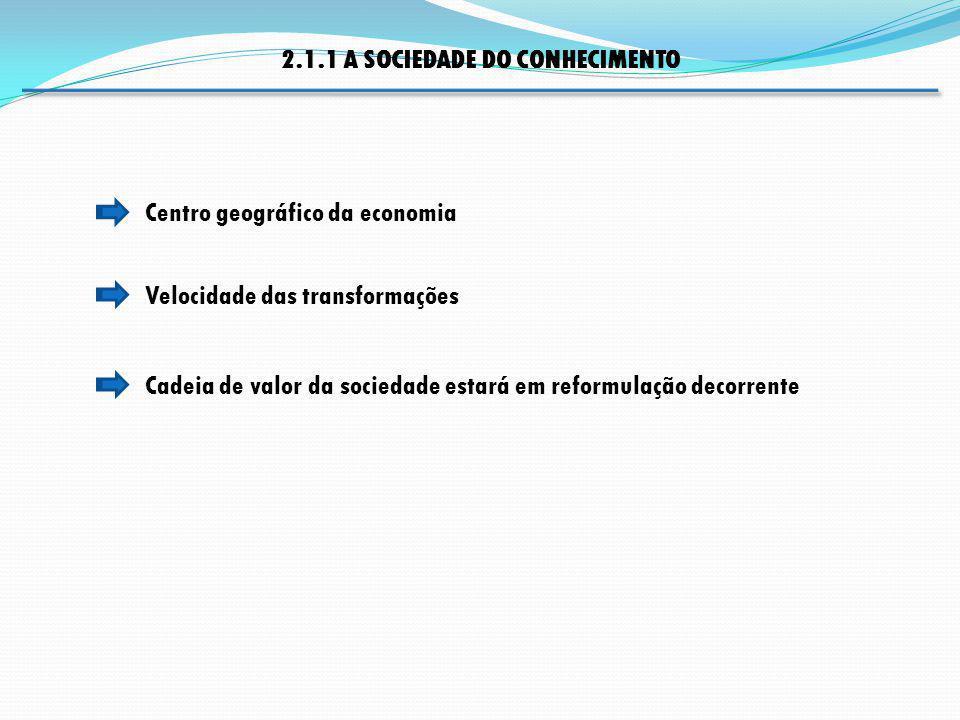 2.1.1 A SOCIEDADE DO CONHECIMENTO