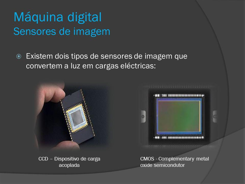 Máquina digital Sensores de imagem