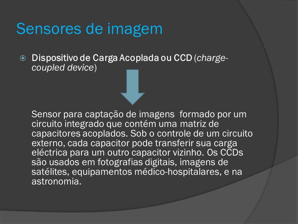 Sensores de imagem Dispositivo de Carga Acoplada ou CCD (charge-coupled device)