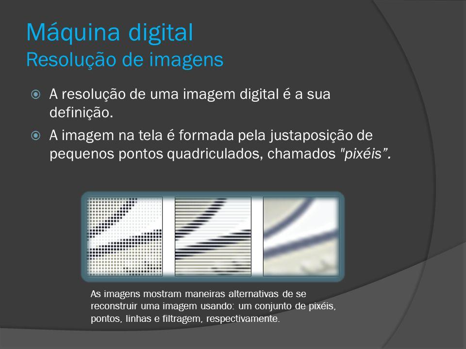 Máquina digital Resolução de imagens