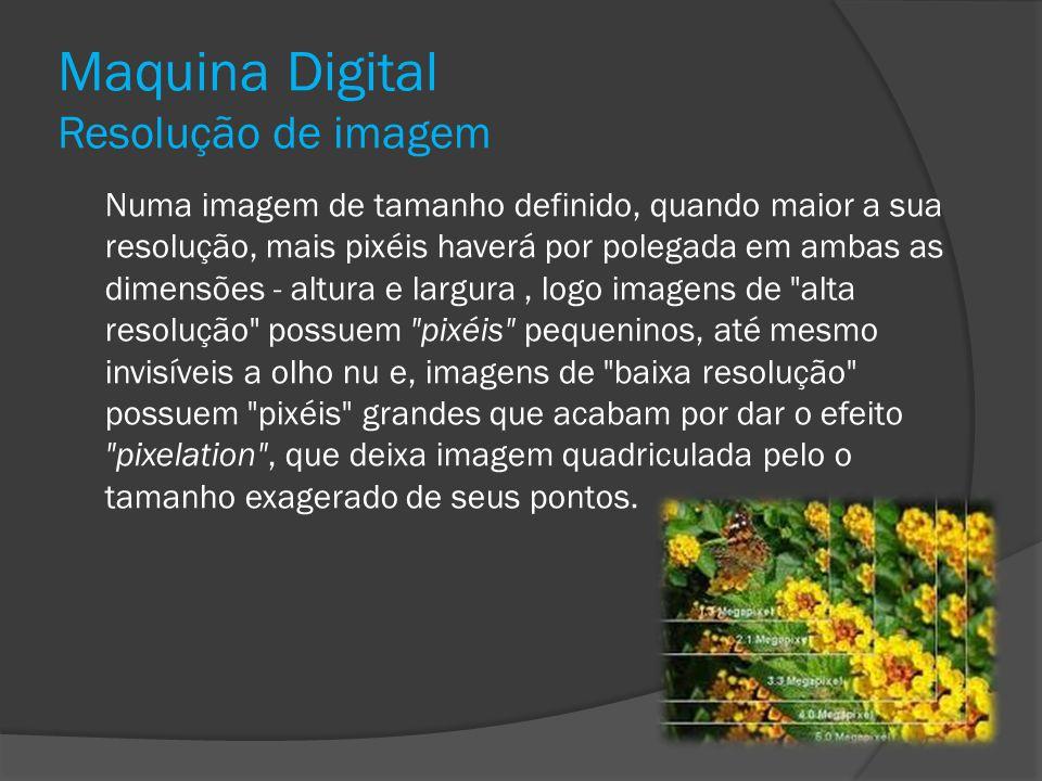 Maquina Digital Resolução de imagem
