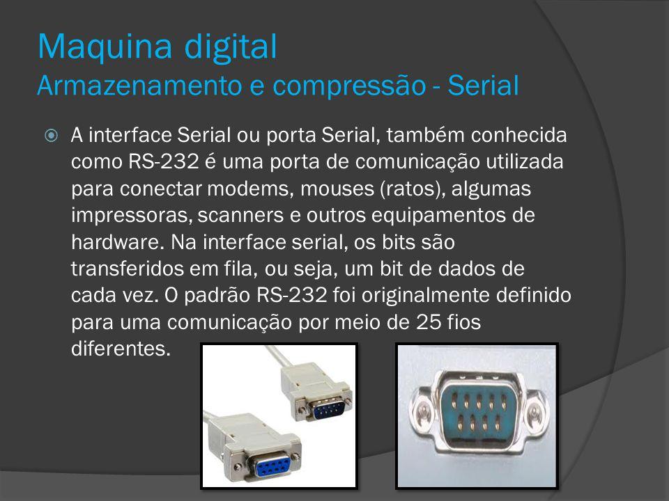 Maquina digital Armazenamento e compressão - Serial