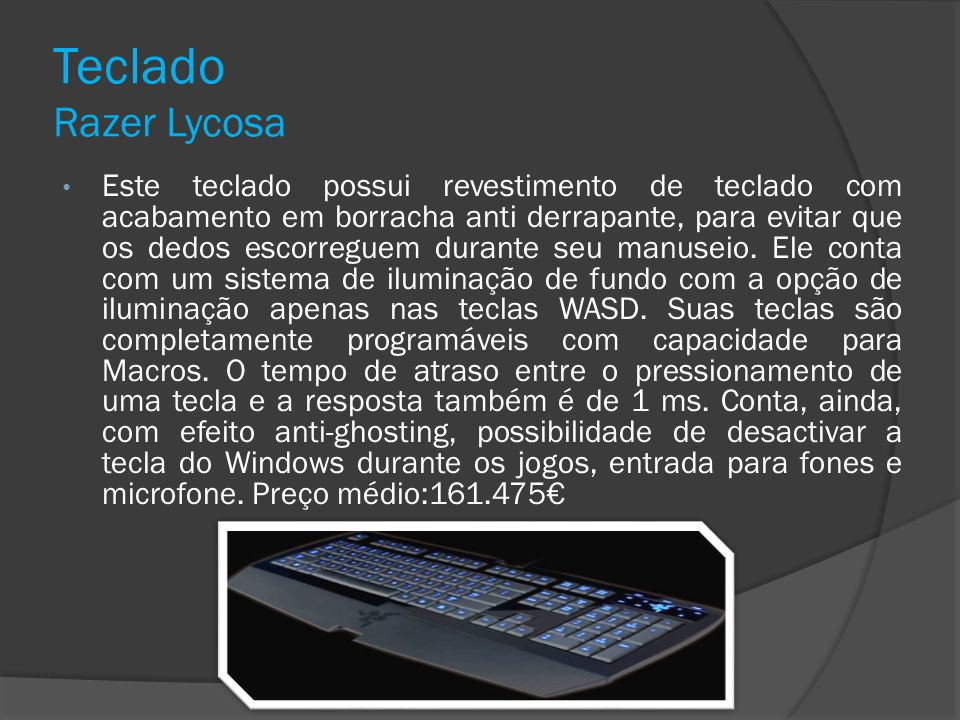 Teclado Razer Lycosa
