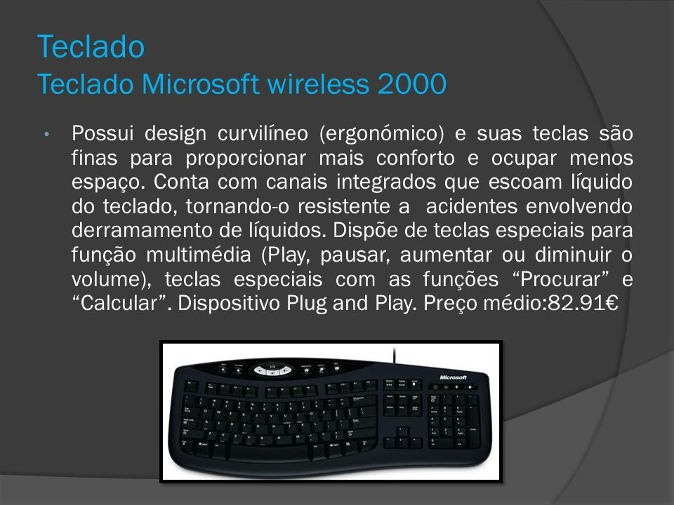 Teclado Teclado Microsoft wireless 2000