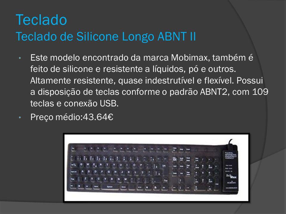 Teclado Teclado de Silicone Longo ABNT II