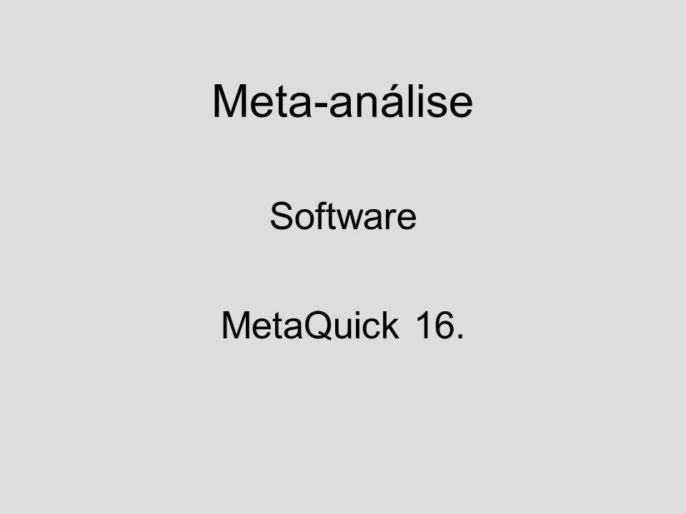 Meta-análise Software MetaQuick 16.