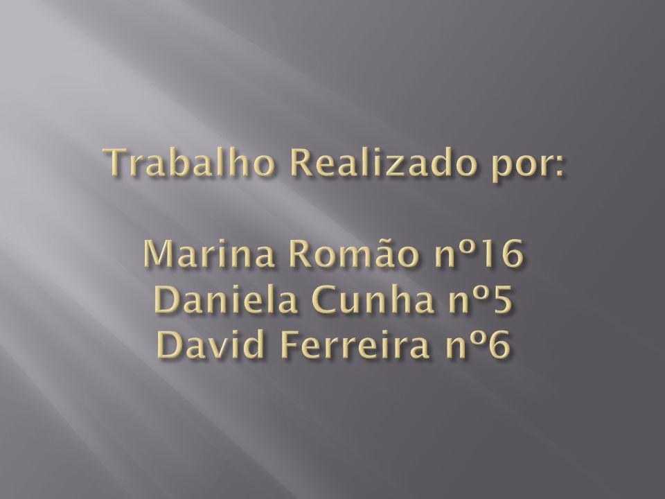 Trabalho Realizado por: Marina Romão nº16 Daniela Cunha nº5 David Ferreira nº6