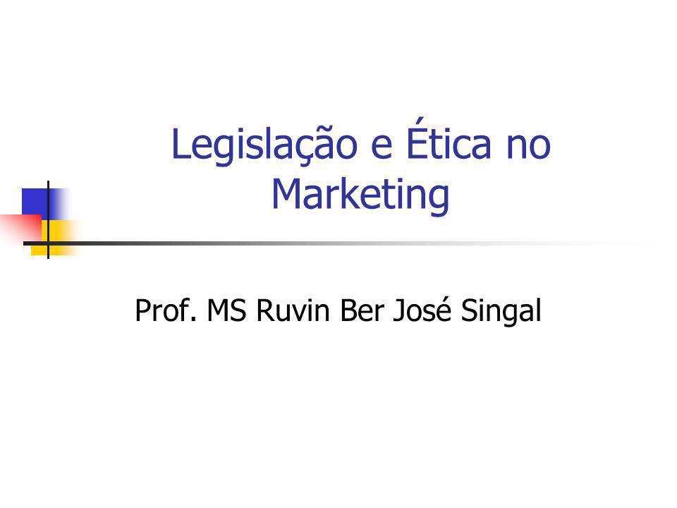 Legislação e Ética no Marketing