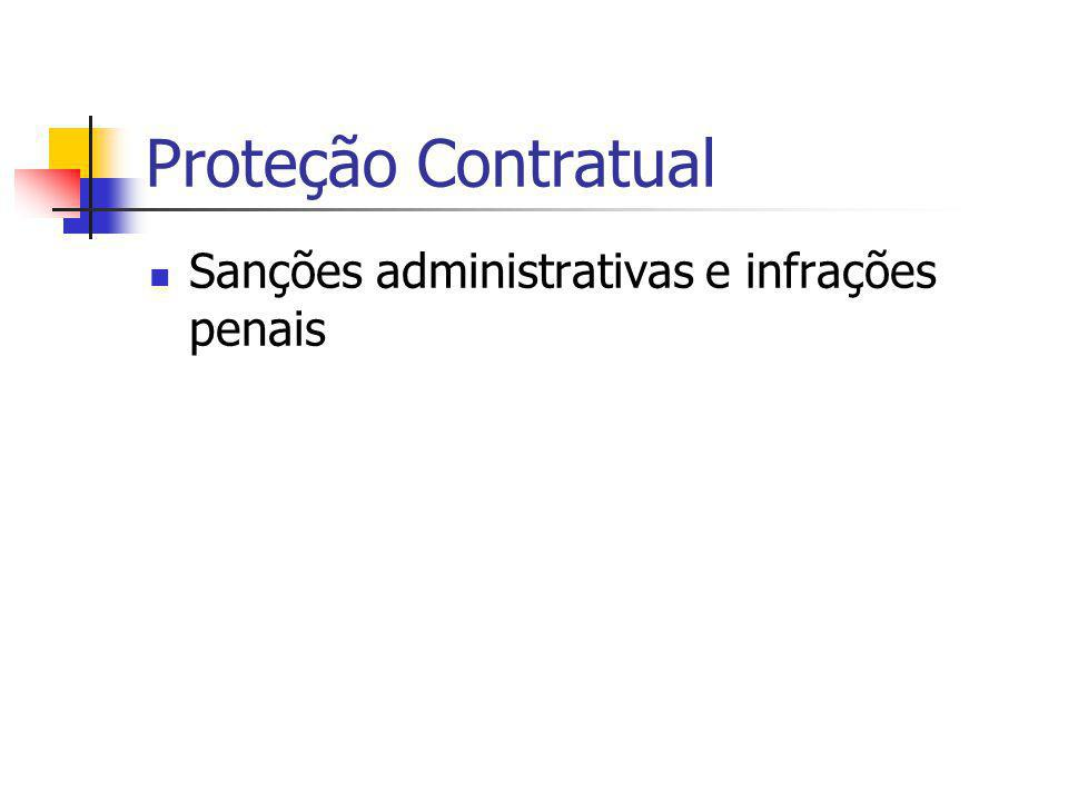Proteção Contratual Sanções administrativas e infrações penais