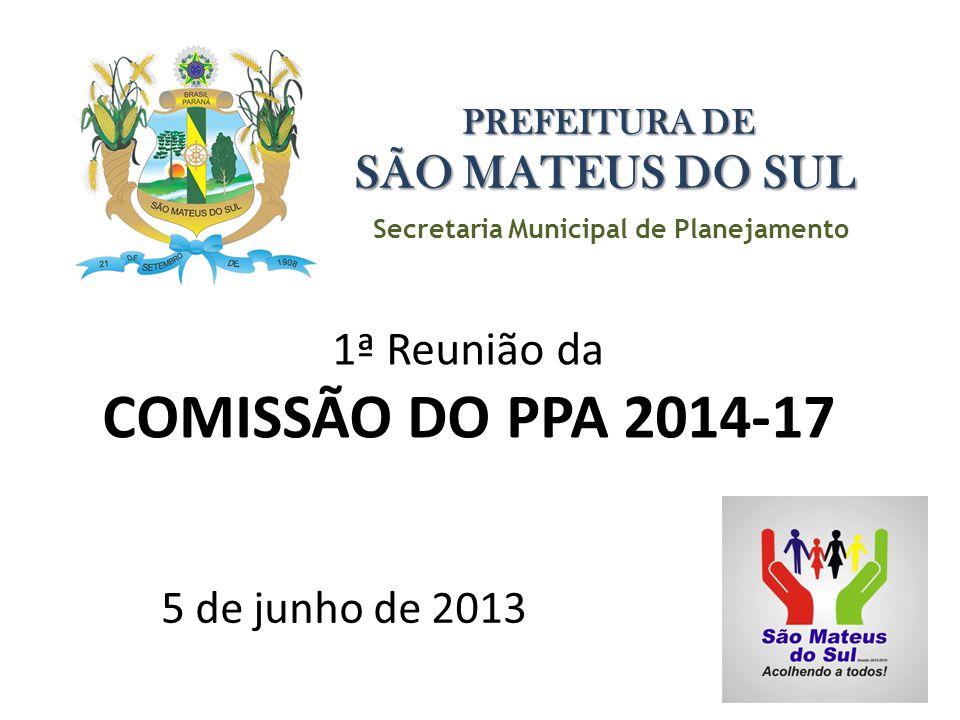 1ª Reunião da COMISSÃO DO PPA 2014-17