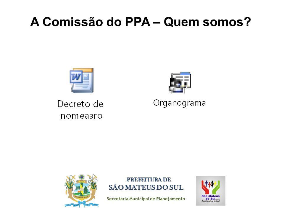 A Comissão do PPA – Quem somos