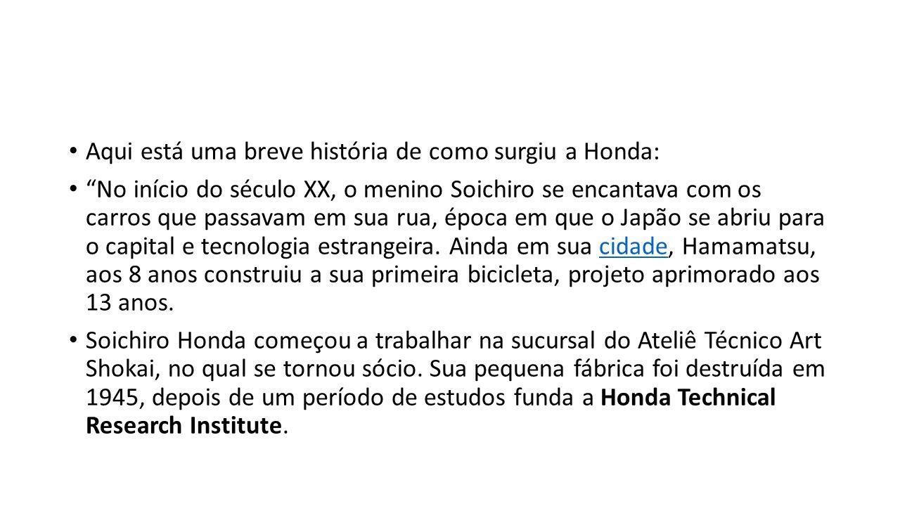 Aqui está uma breve história de como surgiu a Honda: