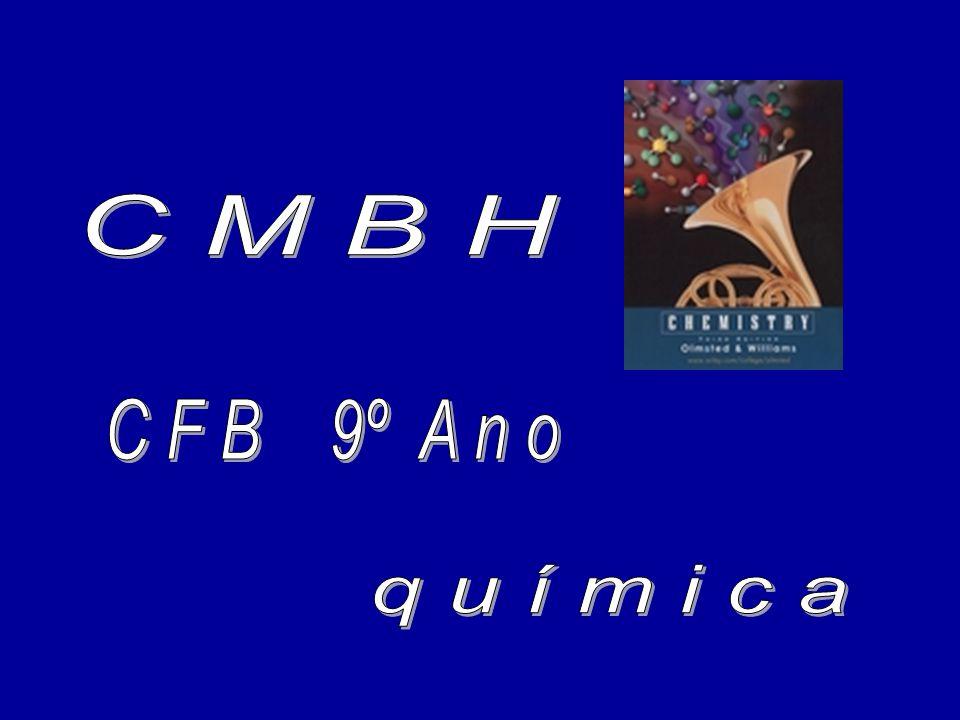 C M B H C F B 9º A n o q u í m i c a