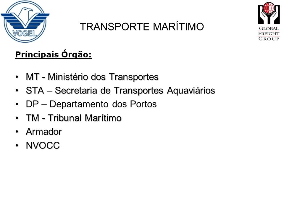 TRANSPORTE MARÍTIMO MT - Ministério dos Transportes