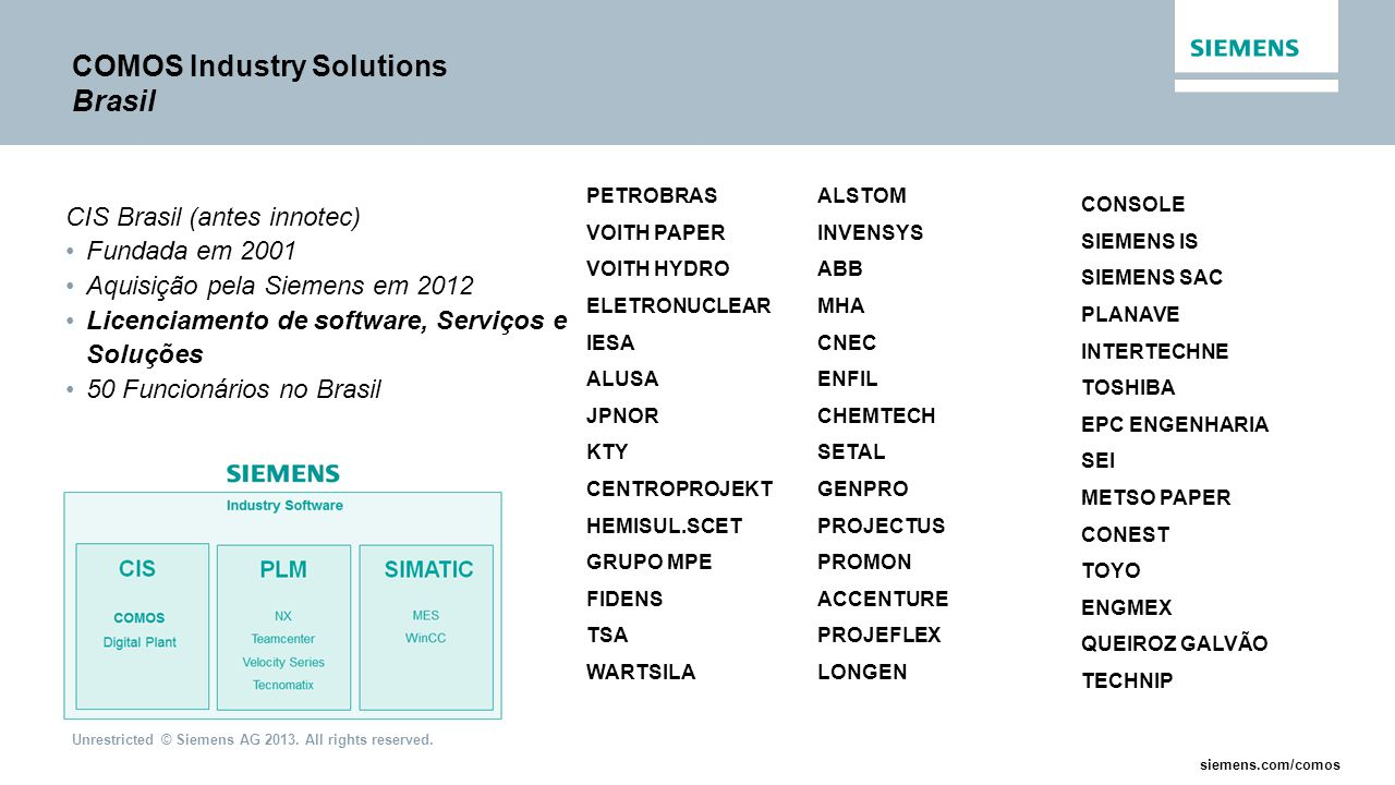 COMOS Industry Solutions Brasil