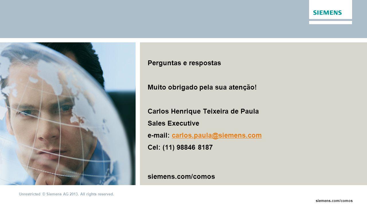 Perguntas e respostas Muito obrigado pela sua atenção! Carlos Henrique Teixeira de Paula. Sales Executive.