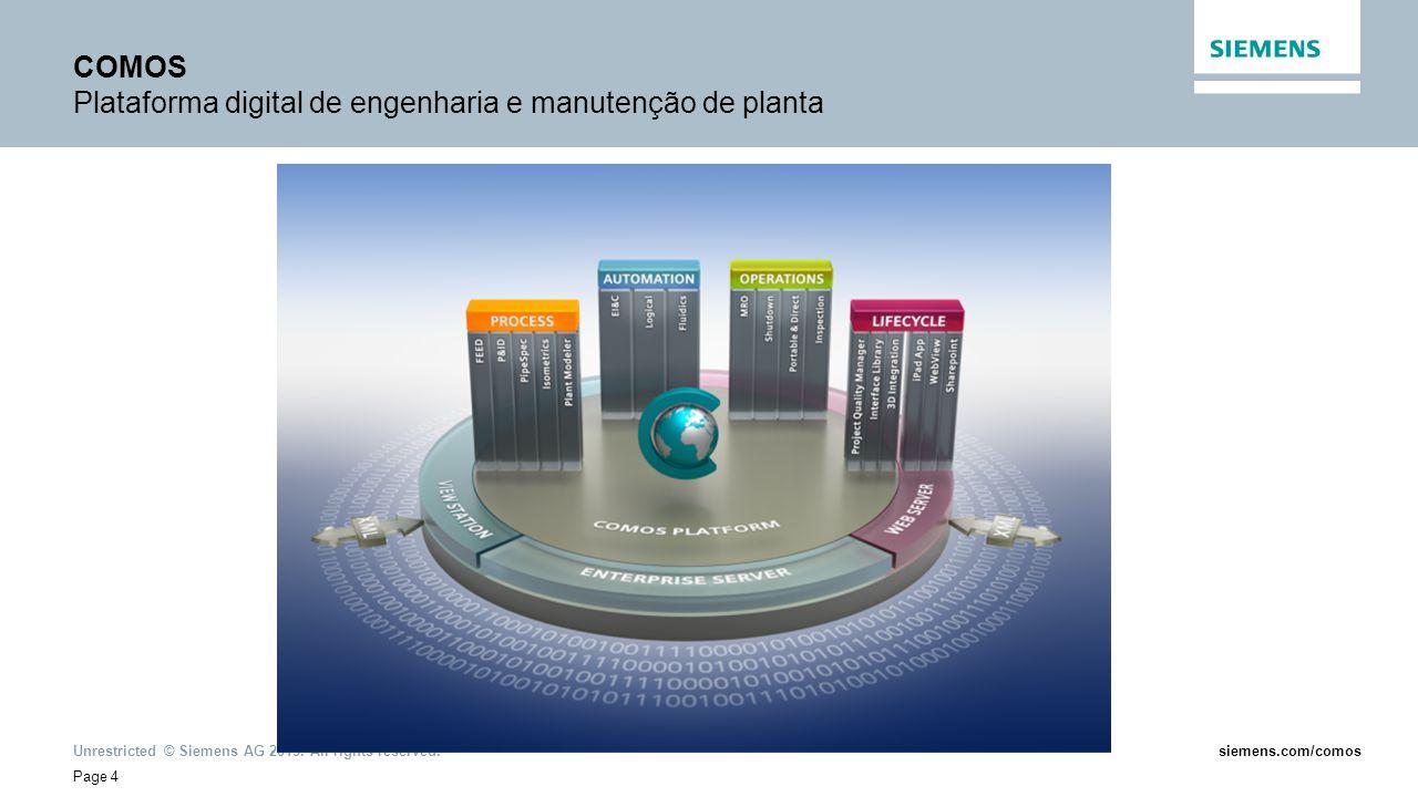 COMOS Plataforma digital de engenharia e manutenção de planta