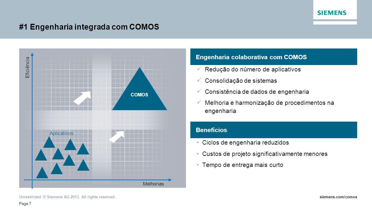 #1 Engenharia integrada com COMOS