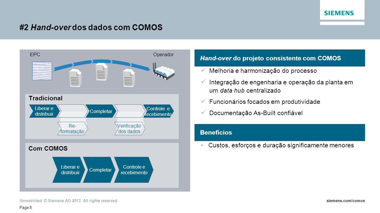 #2 Hand-over dos dados com COMOS
