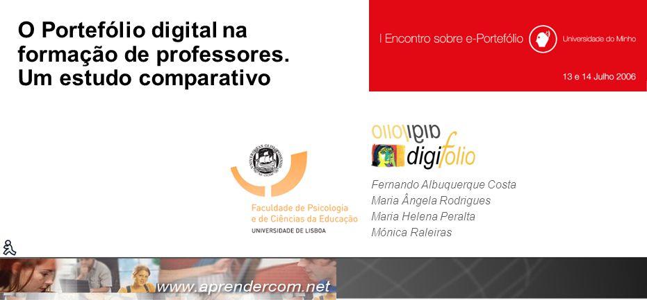 O Portefólio digital na formação de professores. Um estudo comparativo