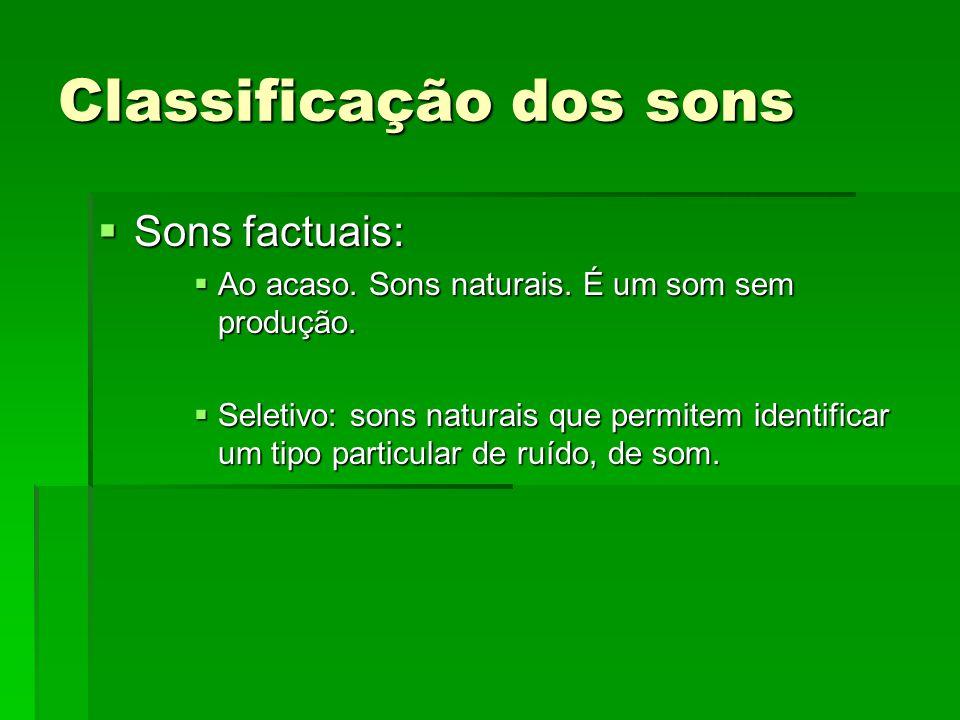 Classificação dos sons
