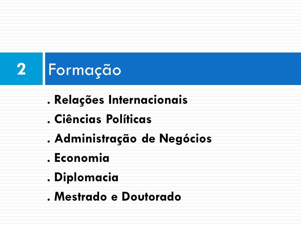Formação 2 . Relações Internacionais . Ciências Políticas