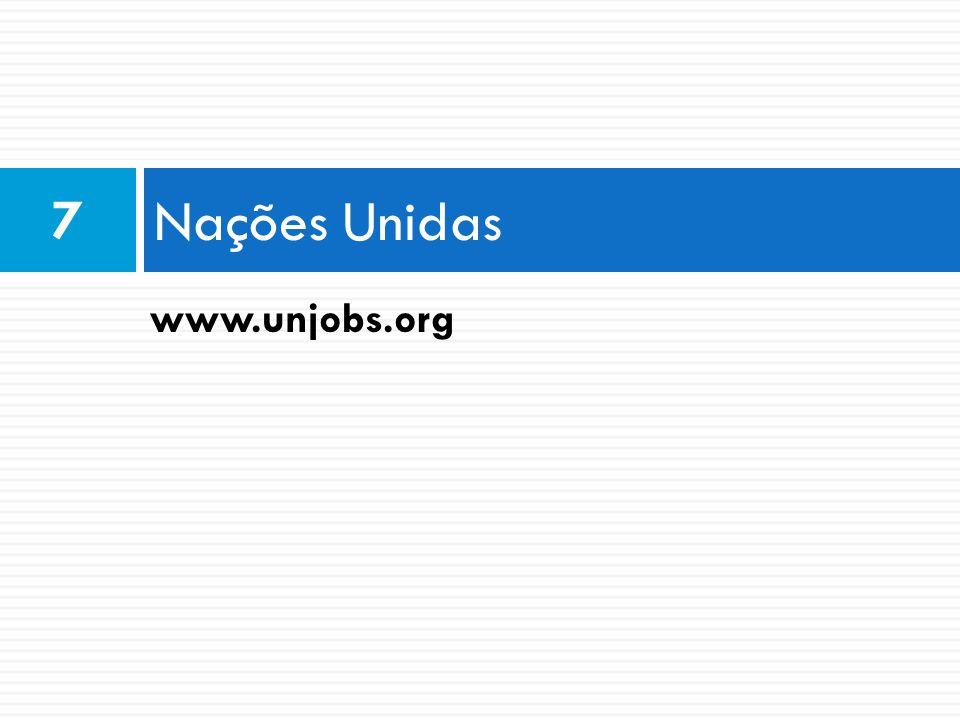 Nações Unidas 7 www.unjobs.org