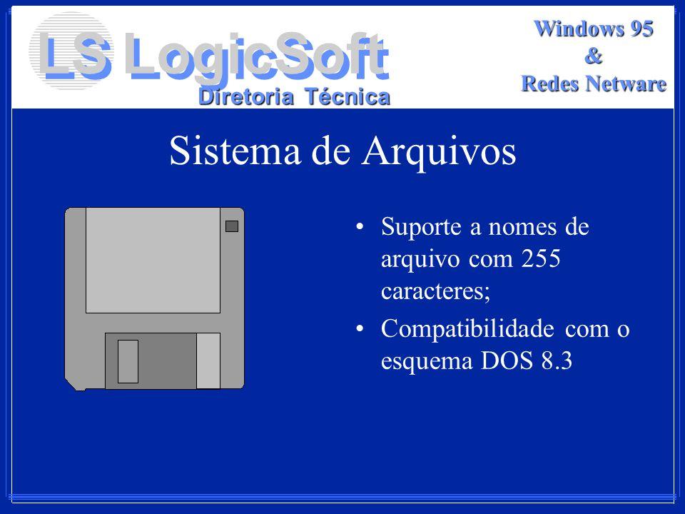 Sistema de Arquivos Suporte a nomes de arquivo com 255 caracteres;
