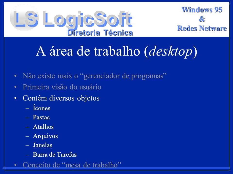 A área de trabalho (desktop)