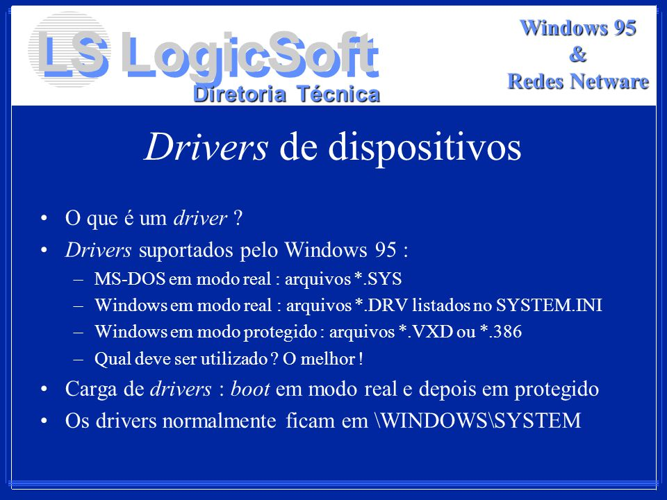 Drivers de dispositivos