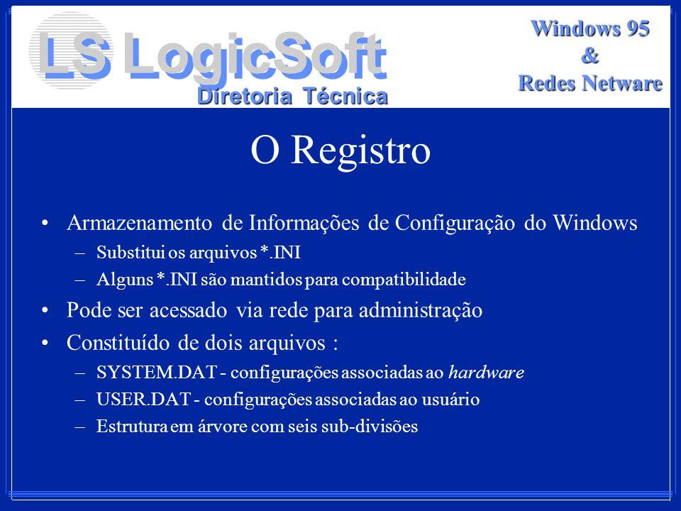 O Registro Armazenamento de Informações de Configuração do Windows