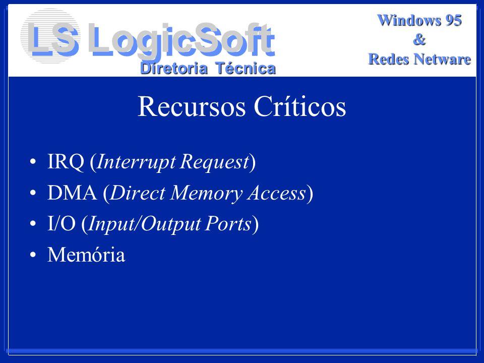 Recursos Críticos IRQ (Interrupt Request) DMA (Direct Memory Access)