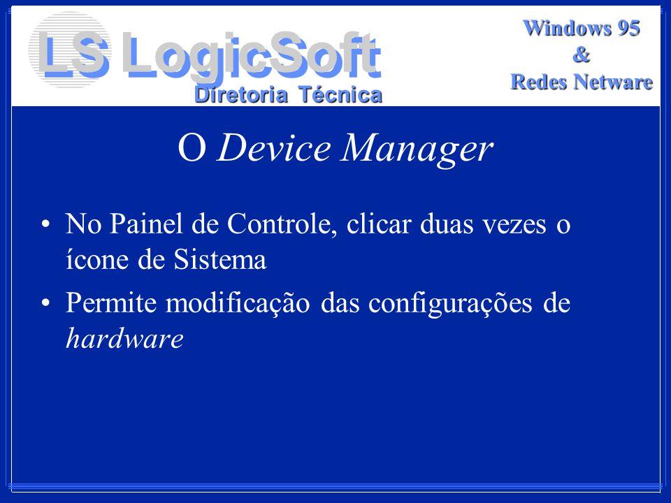 O Device Manager No Painel de Controle, clicar duas vezes o ícone de Sistema.