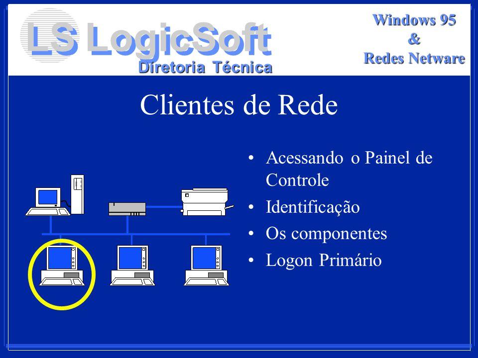 Clientes de Rede Acessando o Painel de Controle Identificação