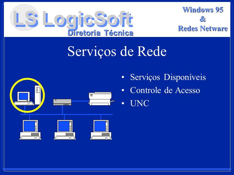 Serviços de Rede Serviços Disponíveis Controle de Acesso UNC