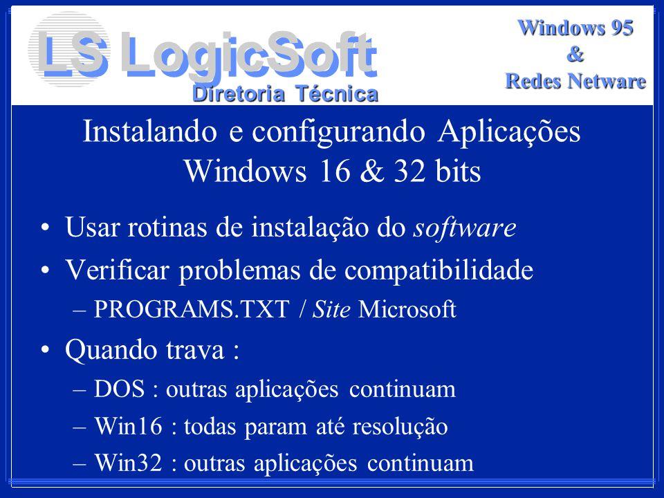 Instalando e configurando Aplicações Windows 16 & 32 bits
