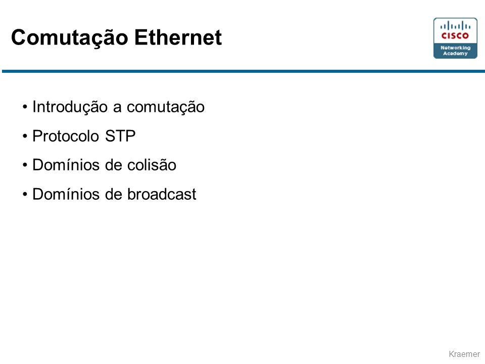 Comutação Ethernet Introdução a comutação Protocolo STP