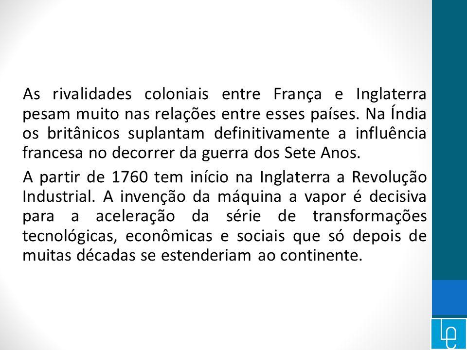 As rivalidades coloniais entre França e Inglaterra pesam muito nas relações entre esses países.