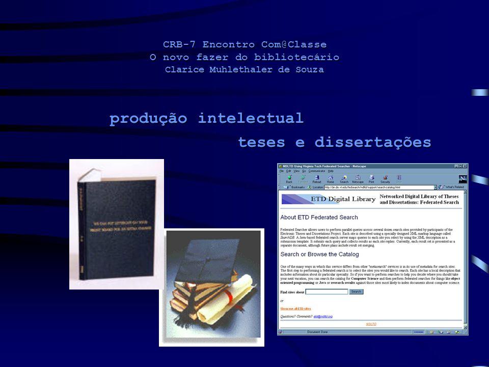 produção intelectual teses e dissertações
