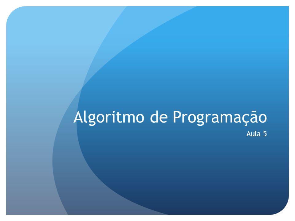 Algoritmo de Programação