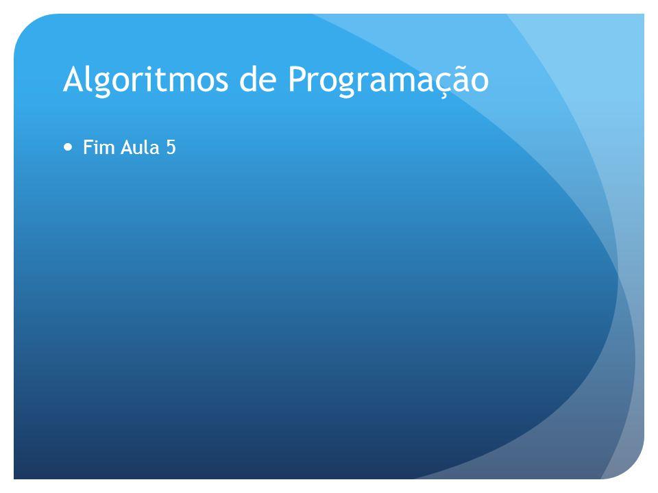 Algoritmos de Programação