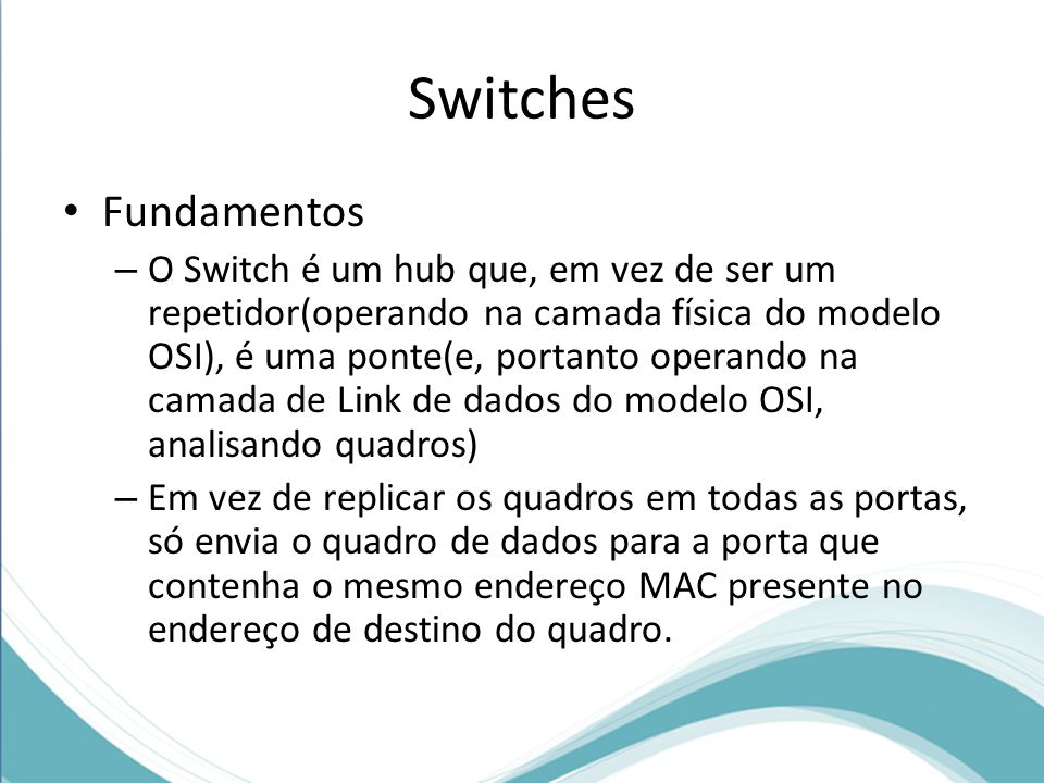 Switches Fundamentos.