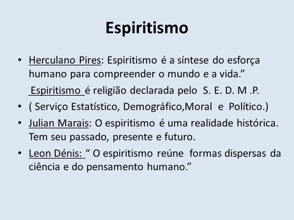 Espiritismo Herculano Pires: Espiritismo é a síntese do esforça humano para compreender o mundo e a vida.
