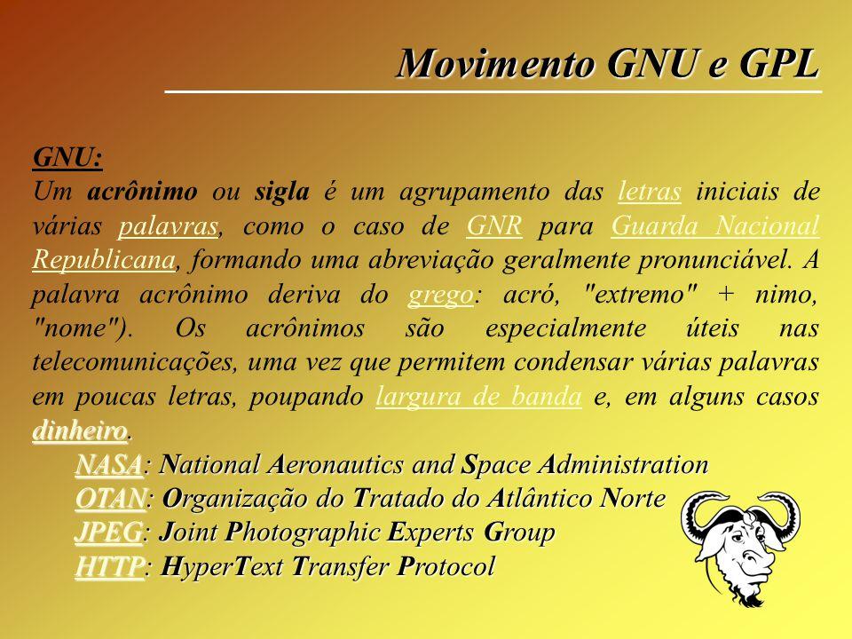 Movimento GNU e GPL GNU:
