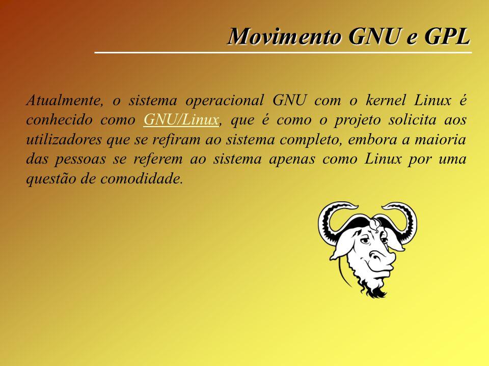 Movimento GNU e GPL