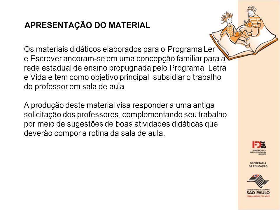 Os materiais didáticos elaborados para o Programa Ler