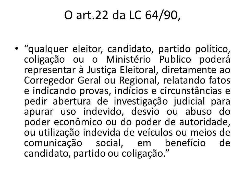 O art.22 da LC 64/90,