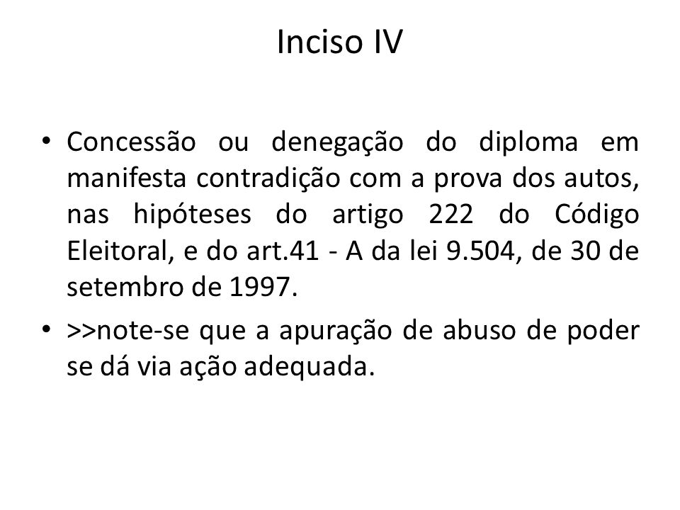 Inciso IV